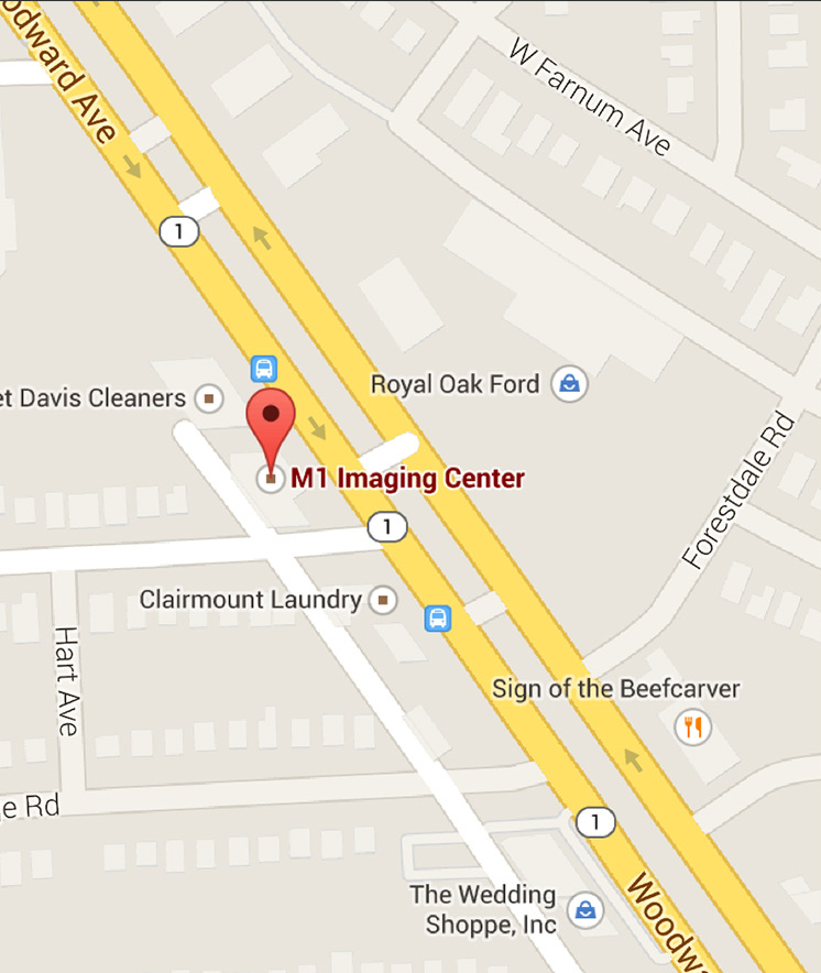 Footer Site Map: M1 Imaging Center